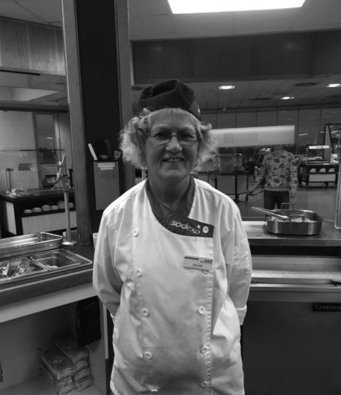 Sodexo worker with infectious positive attitude